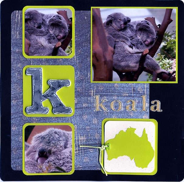 K comme Koala (K as in koala)
