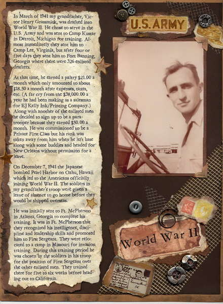 World War II of Grandpa Vic's Journal (page 2 of 4)