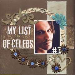 My list of celebs