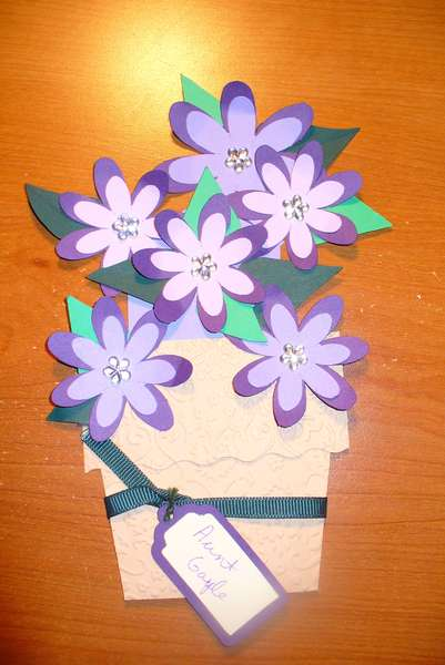 Flower Pot Mother's Day card - Aunt