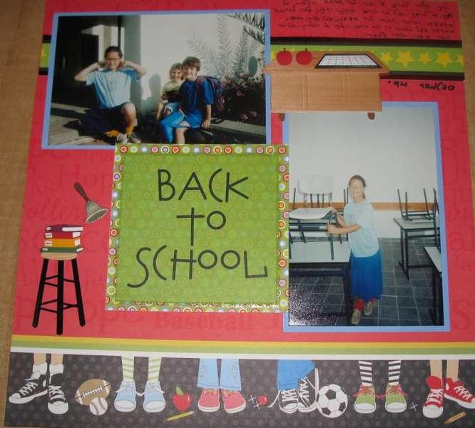 Back to school- fourth grade