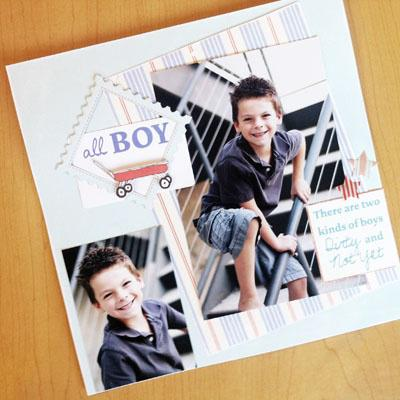 All Boy featuring Sarah Jane from Making Memories