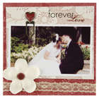 Making Memories Love Story Wedding page