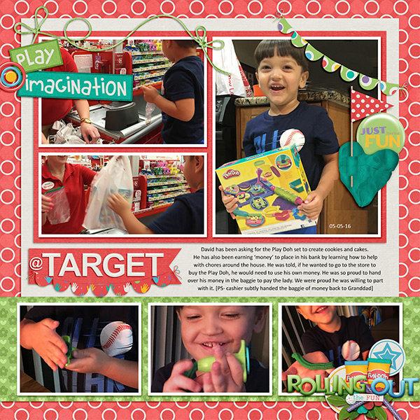 Buying PlayDoh at Target
