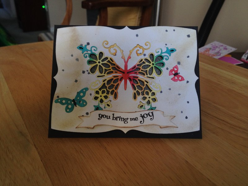 Penny Black sentiment card