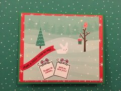 Christmas thank you card front