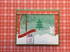 Christmas thank-you card
