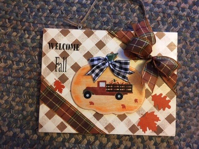 Welcome Fall Board