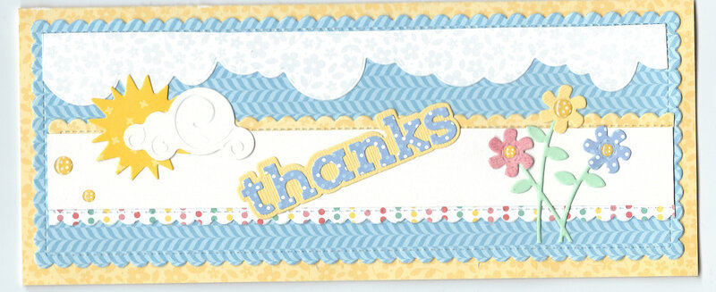 "Slim line ""thanks"" card"