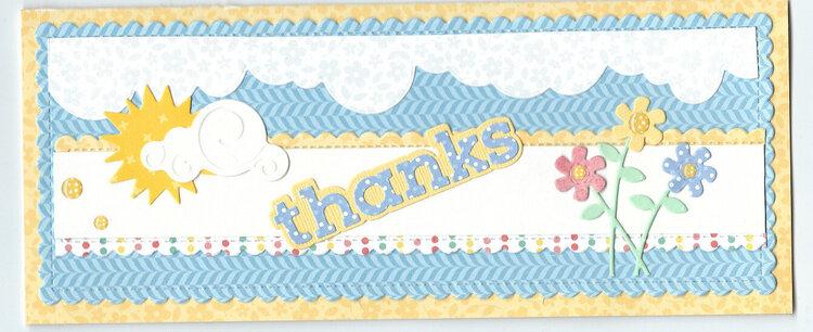 "Slim line ""thanks"" card"