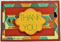 Thank you note - foil