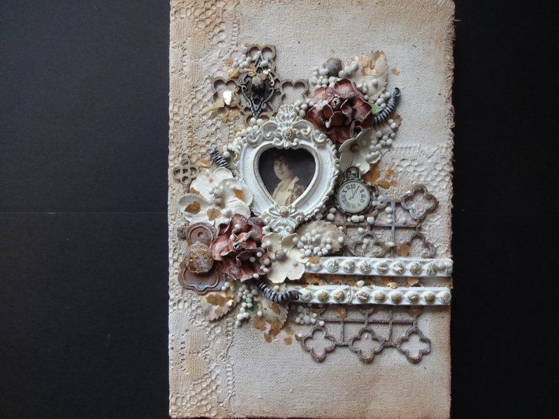 Mixed Media Journal Book Cover