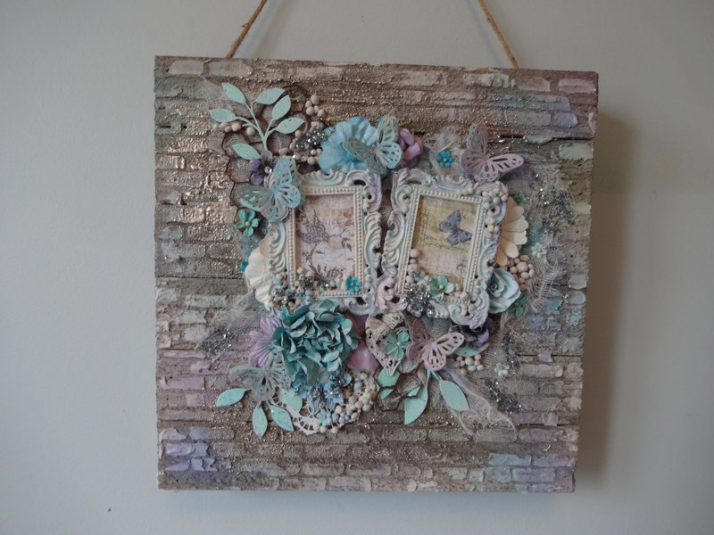 Wood Mixed Media Wall Hanging