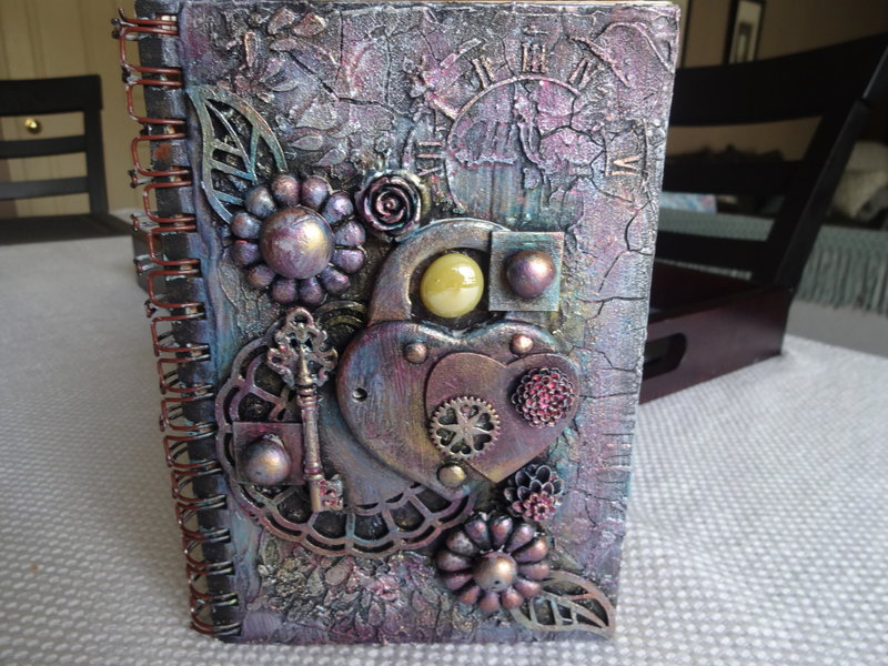 "Mixed Media altered ""Favourite Quotes"" art journal book"