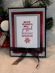 Joyful Holiday Card Red Foil