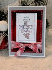 Merry Christmas Red Foil Card