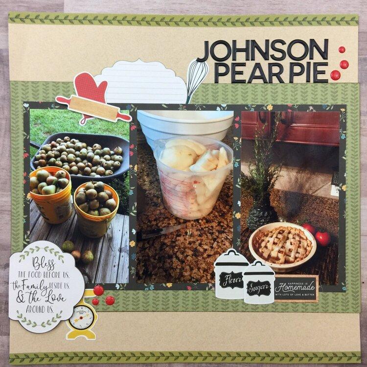 Johnson Pear Pie
