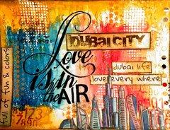 Dubai city artjournal