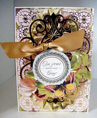 Vintage Gold Butterfly Topper Quickie Card