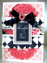 Rose Box Pleated Thank You Card