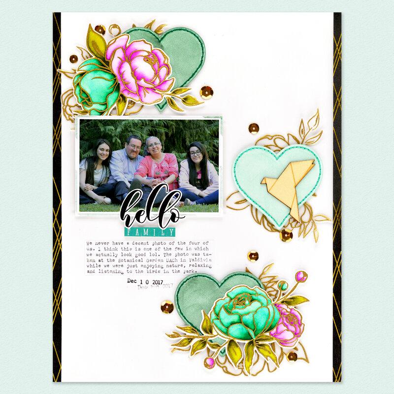 Hello Family Layout | Altenew