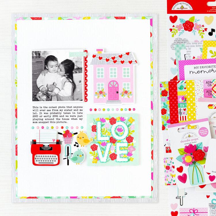 LOVE Layout | Doodlebug Design