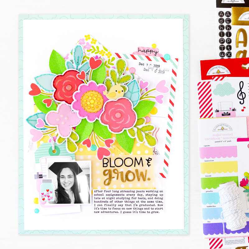 Bloom & Grow Layout | Doodlebug Design