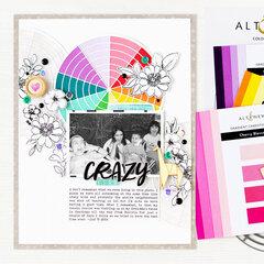 Crazy Kids Layout | Altenew