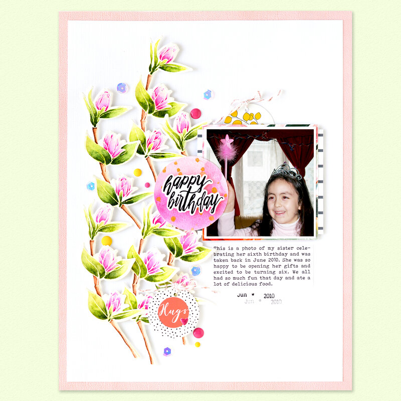 Happy Birthday Layout | Altenew