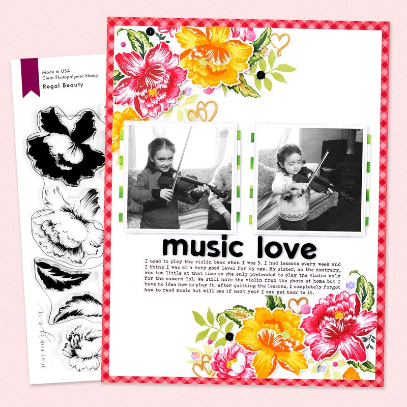 Music Love Layout | Altenew