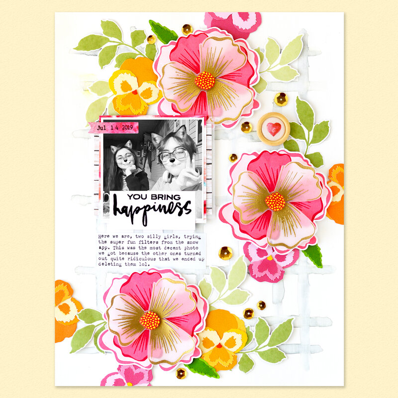 You bring happiness Layout | Altenew