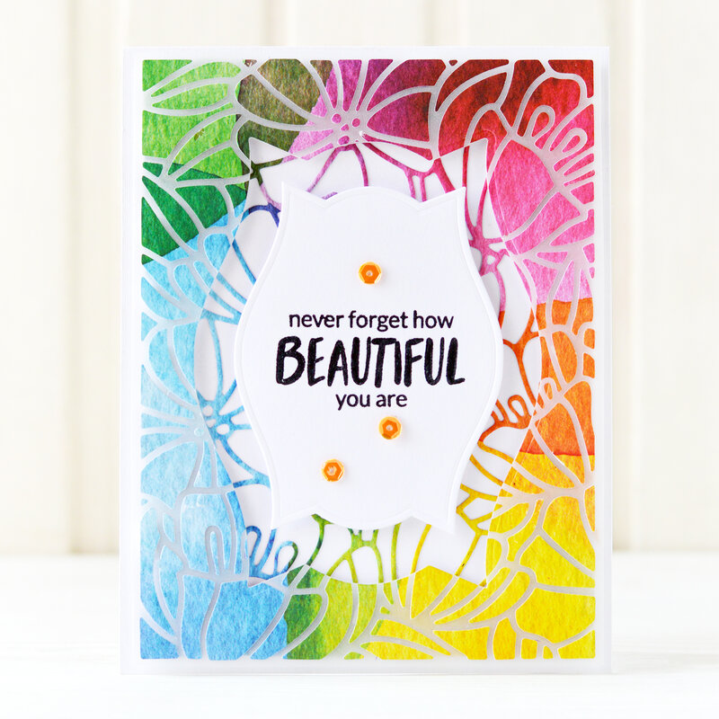 Never forget how beautiful you are Card | Altenew