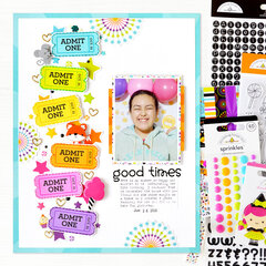 Good Times Layout | Doodlebug Design