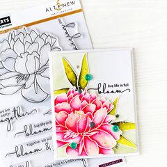 Bloom Card | Altenew + Hero Arts