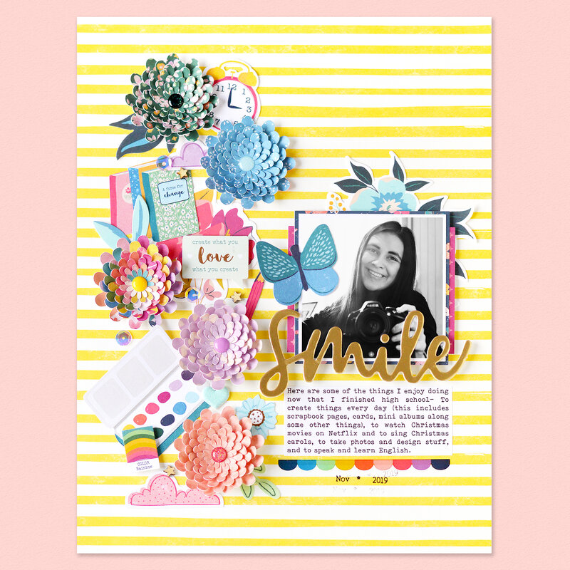 Smile Layout | Pink Paislee