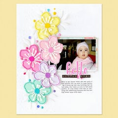 Hello Little Girl Layout | Altenew