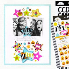Silly Faces Layout | Doodlebug Design