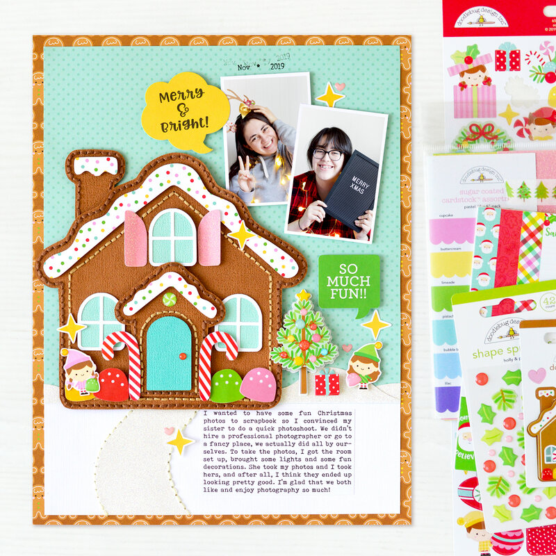 Merry & Bright Layout | Doodlebug Design