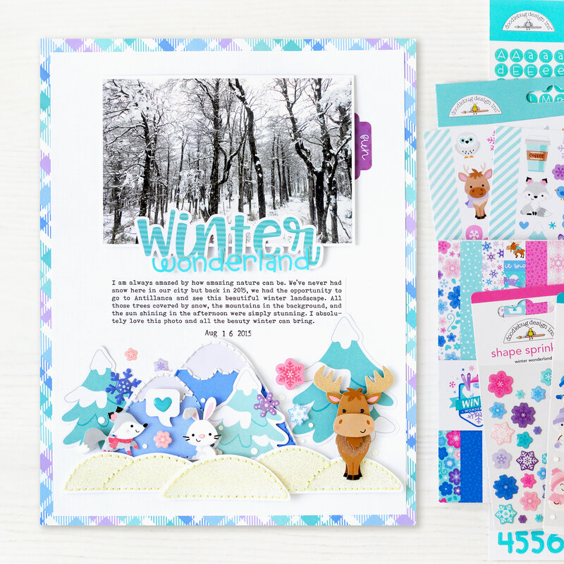 Winter Wonderland Layout | Doodlebug Design