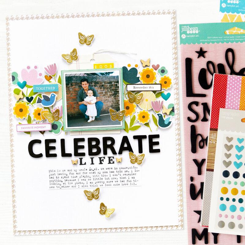 Celebrate Life Layout | Jillibean Soup