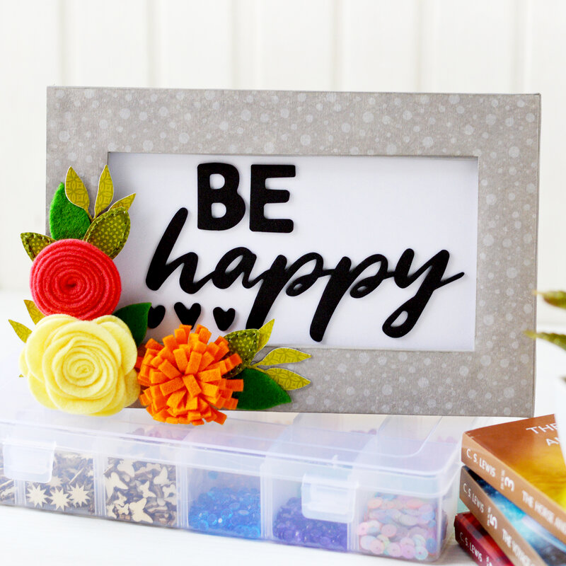 Be Happy - Mix the Media Project | Jillibean Soup