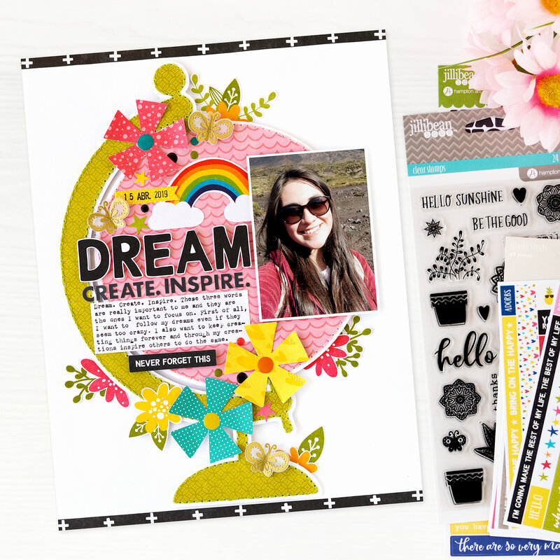 Dream. Create. Inspire Layout | Jillibean Soup