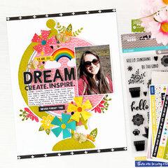 Dream. Create. Inspire Layout | Jillibean Soup