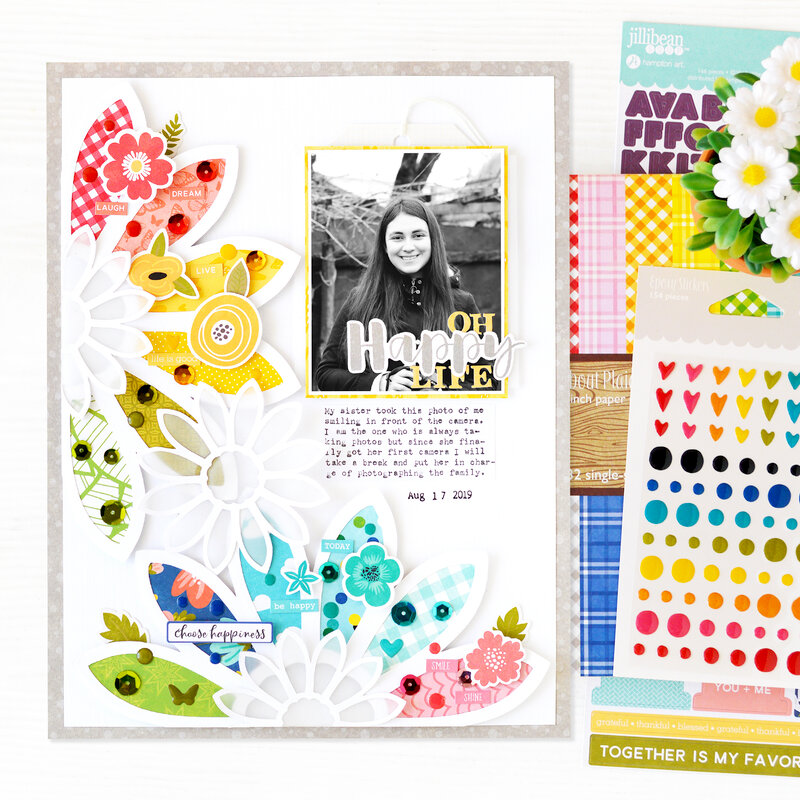 Oh Happy Day Scrapbook Layout | Jillibean Soup
