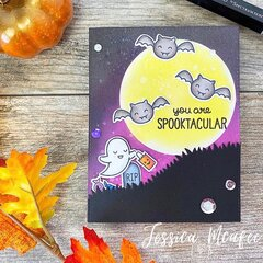Spooktacutar Lawn Fawn Halloween Card