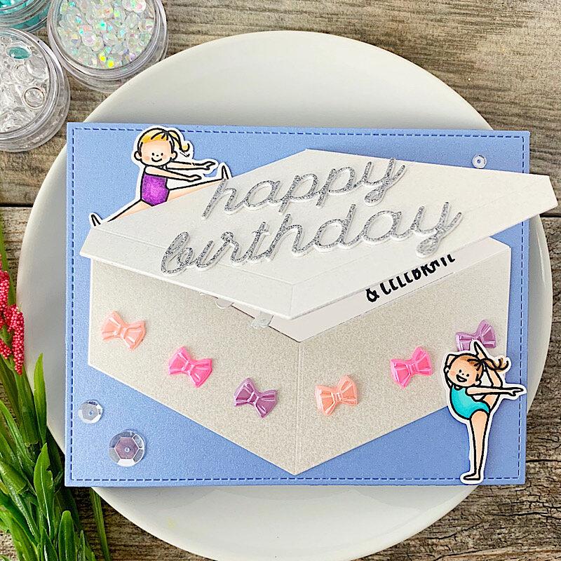 Waffle Flower Birthday card