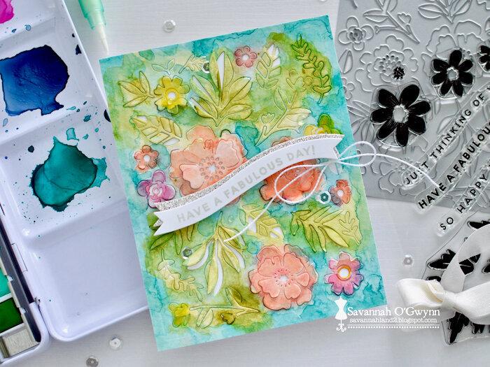 Fabulous Birthday Watercolored card