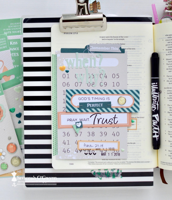God's Timing Is Perfect (bible journaling)
