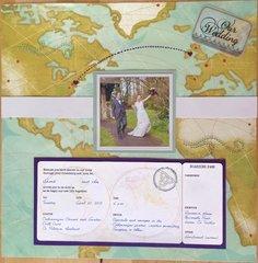 Wedding cover page w/invitation