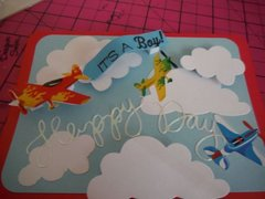 Airplanes and happiness baby card